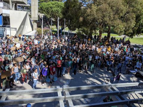 Photograph of AAS Climate Justice Rally 2019