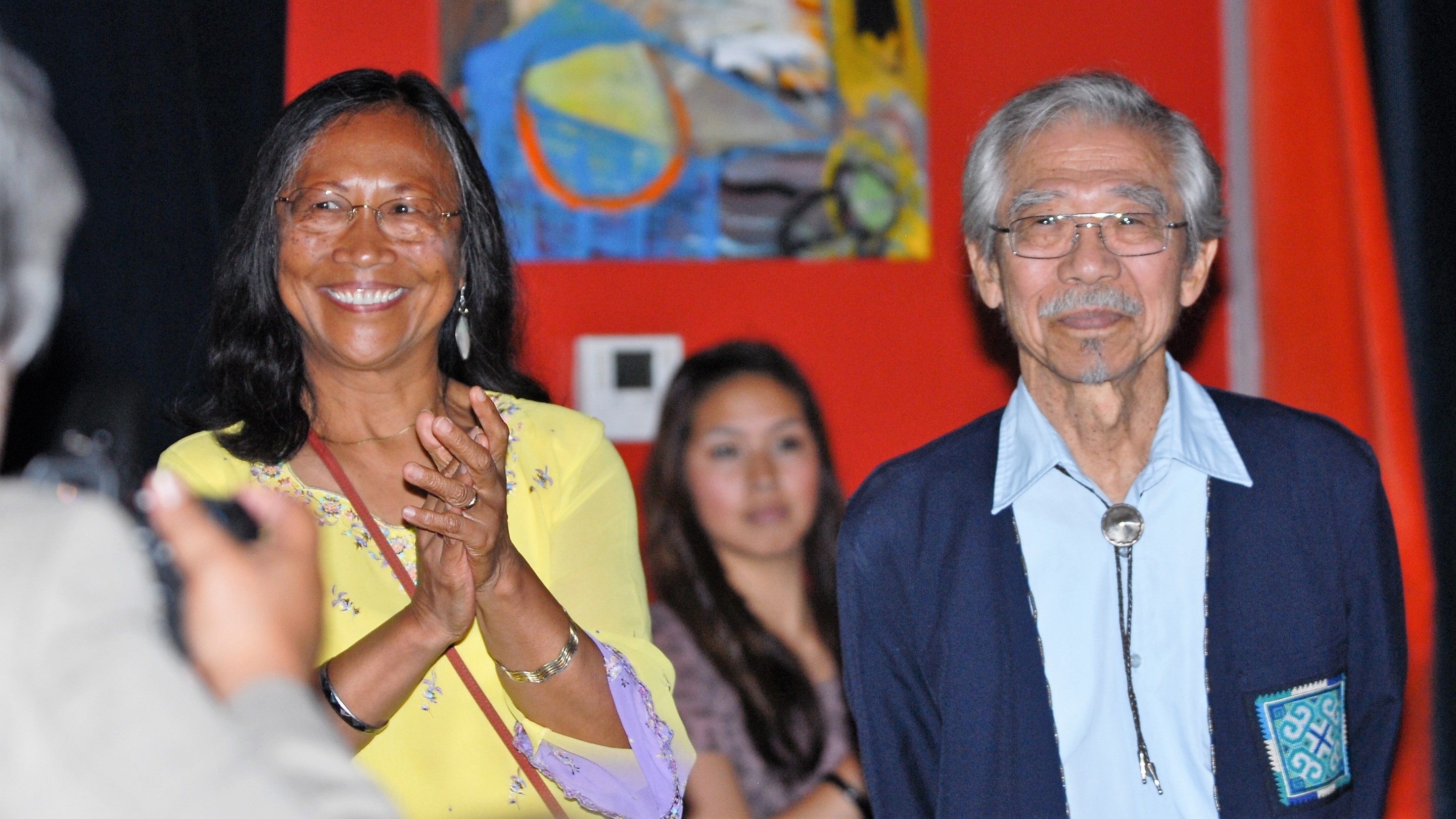 Juanita Tamayo Lott and James Akira Hirabayashi at College of Ethnic Studies Anniversary Celebration, 2011