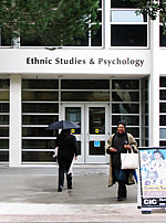 Photo of the front of the Ethnic Studies and Psychology Building